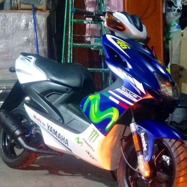 Kit pegatinas Yamaha Aerox Movistar 46