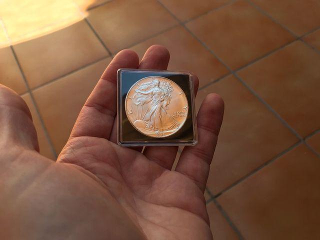 Moneda onza de plata 100% original