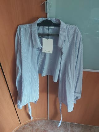 Camisa Cropped de rayas