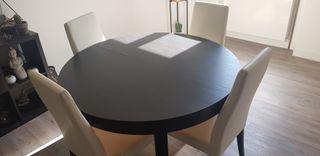 Table salle à manger 4 et 6/8 personnes (rallonge)