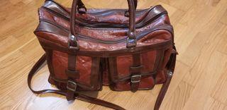 bolso de viajes de piel