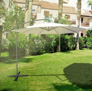 Sombrilla parasaol excentrico para terraza jardin
