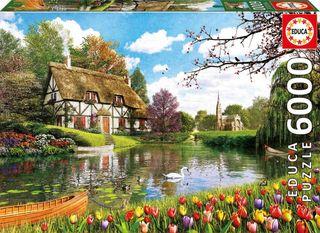 16784 Puzzle Educa 6.000 piezas Primavera lago
