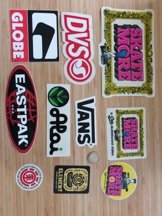 Lote 10 pegatinas marcas skate Vans globe element