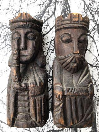 Sujetalibros antiguo Reyes catolicos de madera