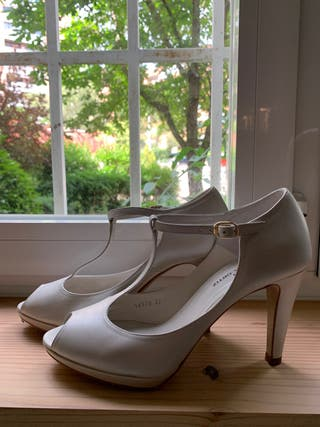Zapatos de vestir blancos para novia o fiesta