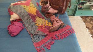 vestido ganchillo rosa /colores playa verano 36 38