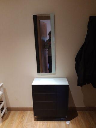 Mueble de entrada recibidor zapatero