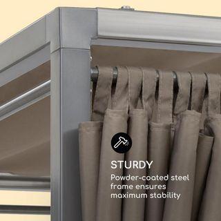 Tumbona doble con estructura de acero