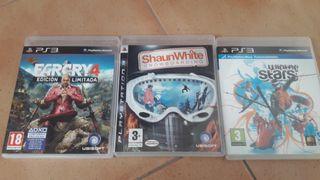 Juegos PS3 FARCRY4, ShaunWhite y Winter stars