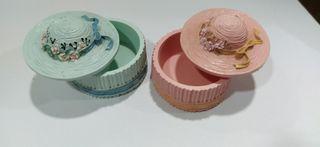 Cajas decoración Sombrero Azul y Rosa
