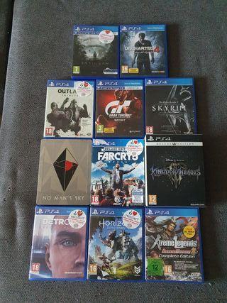 varios juegos ps4, ediciones especiales