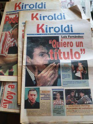 PERIODICO( lote de 3) KIROLDI 1996 y 97 at. BILBAO
