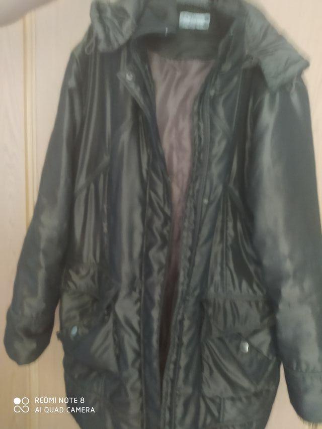 abrigo plumas largo mujer