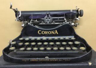 Máquina de escribir CORONA - PLEGABLE - 1917