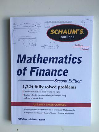 Mathematics of Finance SCHAUM'S