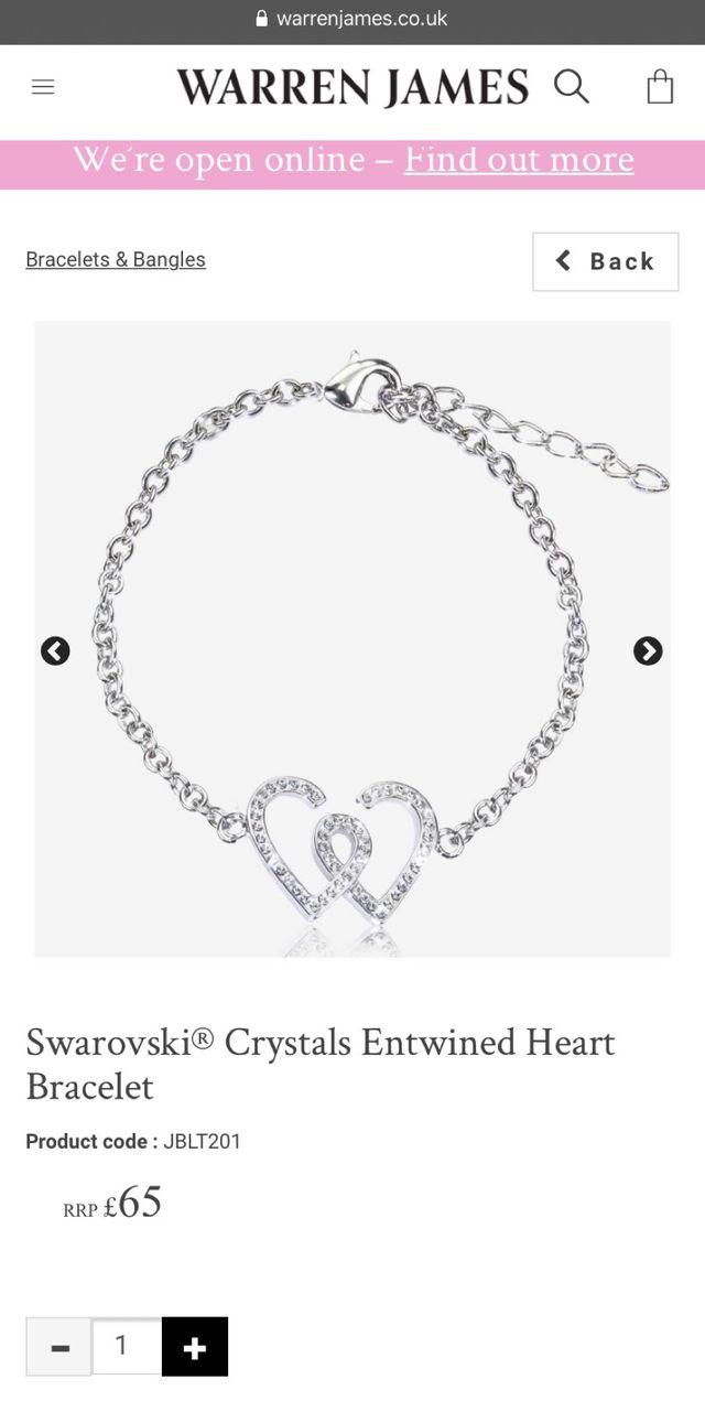 Warren James necklace and bracelet