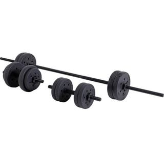 Opti Vinyl Barbell And Dumbbell Set - 25kg NEW