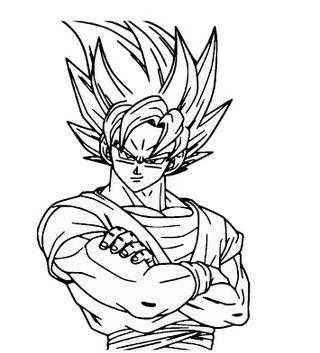 Pegatina Goku