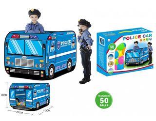Tienda coche de policia con bolas
