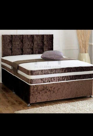 Brand new Divan beds with headboard and mattress