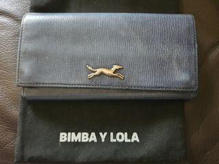Cartera billetera piel Bimba & Lola azul