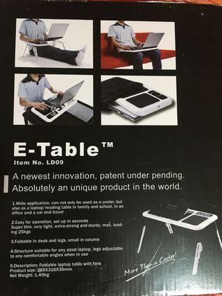 E-Table Escritorio plegable para portátil o tablet
