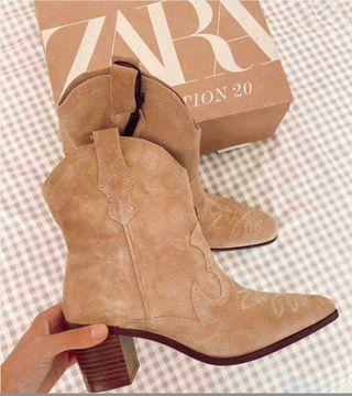 Botas serraje piel Zara