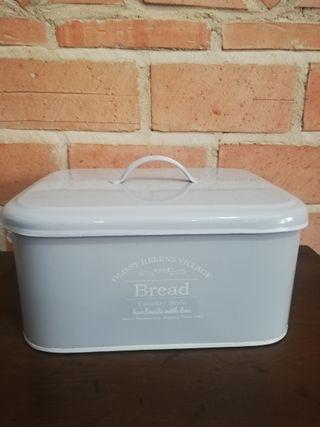 Caja metal para guardar pan