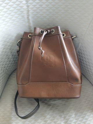 Bolso cuero marrón Vintage