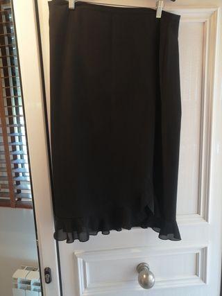 falda de gasa negra