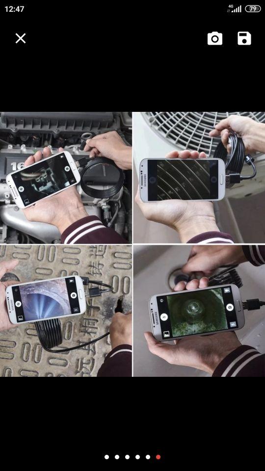 endoscopio móvil y PC