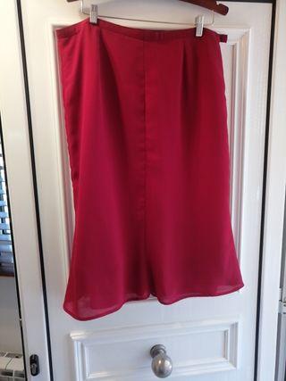 falda de gasa roja