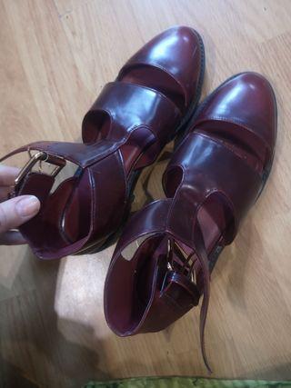 Cangrejeras sandalias 40
