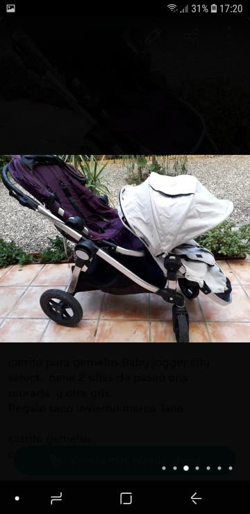 Cochecito Baby jogger city select + saco