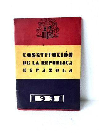 Constitución República Española 1931