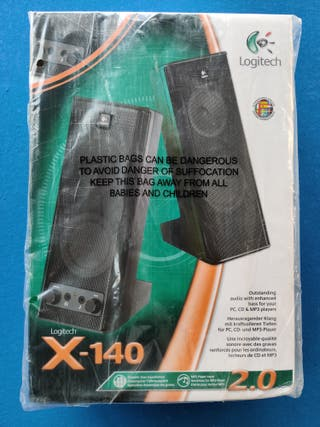 Pareja altavoces autoamplificados Logitec X-140