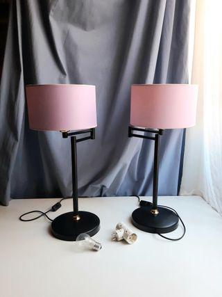 2 lámparas de mesa articuladas
