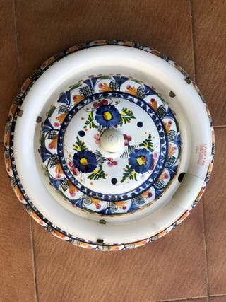 Lámpara plafón cerámica (2 uds x 37€)