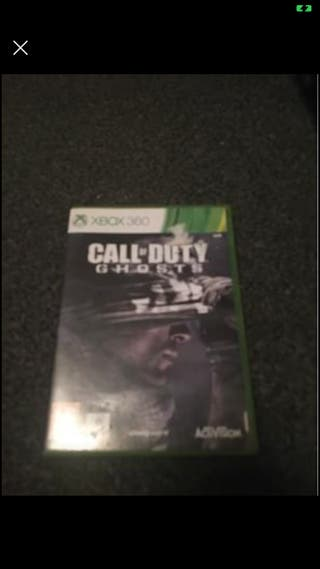 X box 360 call of duty ghost game