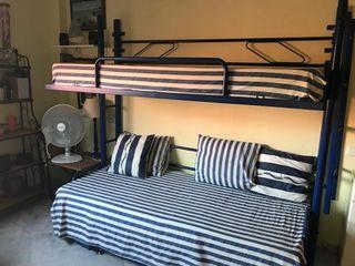 Literas plegables + cama nido + 3 colchones