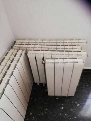 7 radiadores gas.