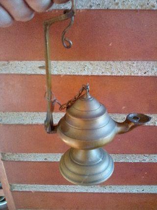 lampara de aceite antigua