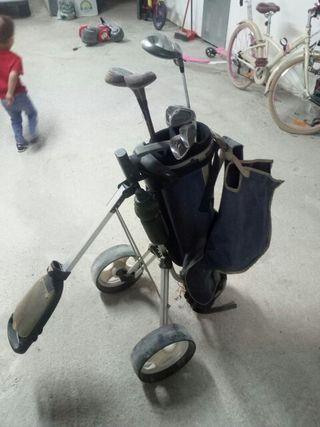 bolsa palos de golf con carrito