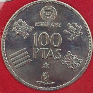 Monedas serie completa mundial futbol 1982.