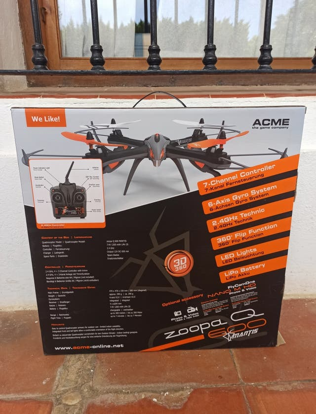 Dron Acme Made zoopa Q600 Mantis Cámara