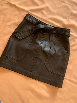 falda piel