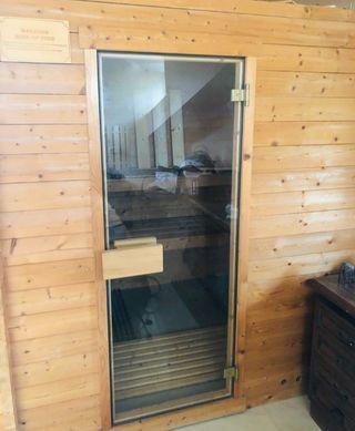 sauna finlandesa a estrenar