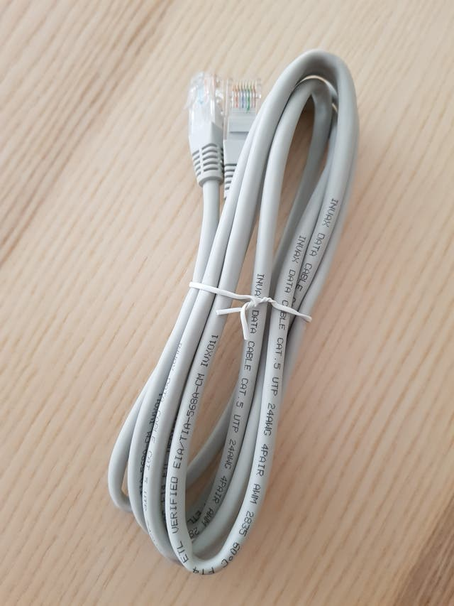 Cable red Ethernet/datos CAT.5 UTP 24 2 m gris