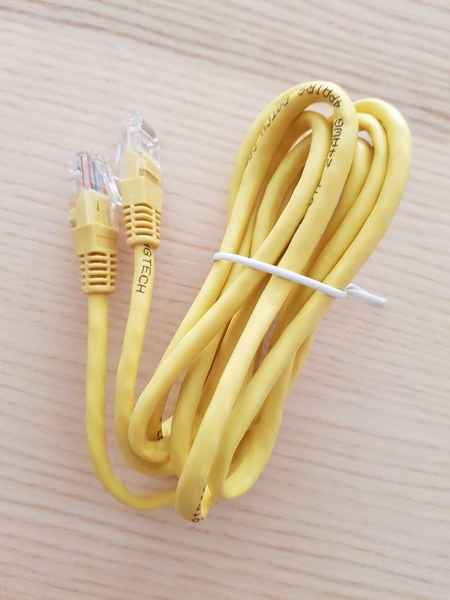 Cable red Ethernet/datos CAT.5E UTP 1.9 m amarillo